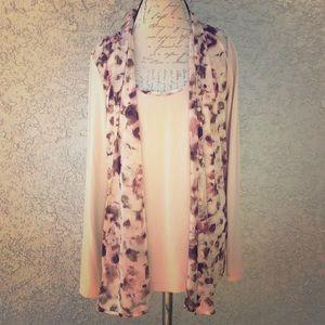 Simply Vera Wang Kohl's Floral Blouse Shirt